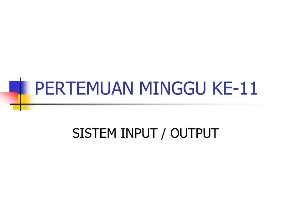 TRANSFER DATA PADA SISTEM I/O 2.Mode Transfer a.