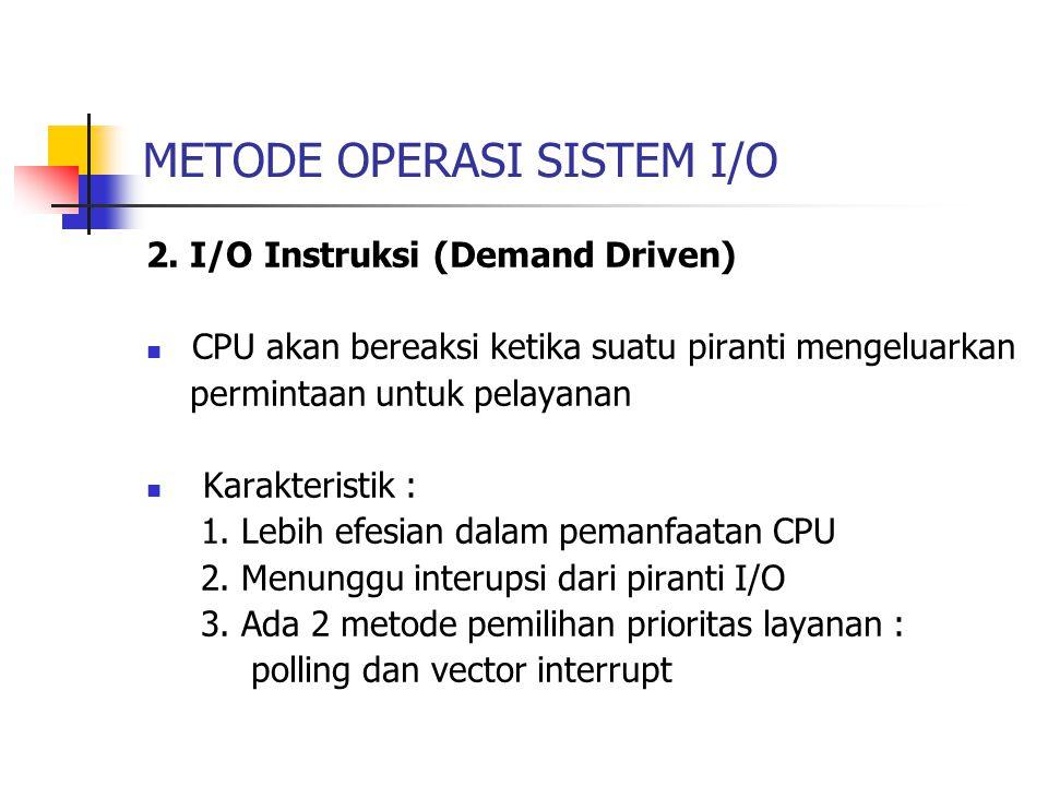SISTEM PROSESOR I/O Format Instruksi IOP : 1.Field Opcode : representasi jenis operasi 2.