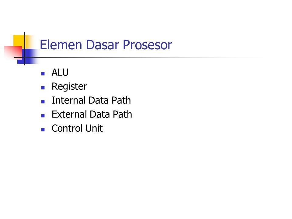 Tipe Operasi Mikro Mendefinisikan elemen dasar prosesor Mendiskripsikan operasi mikro yang harus dilakukan prosesor Menentukan fungsi Control Unit yang harus dilakukan prosesor