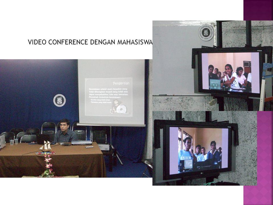 VIDEO CONFERENCE DENGAN MAHASISWA