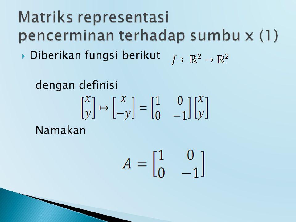  Diberikan fungsi berikut dengan definisi Namakan