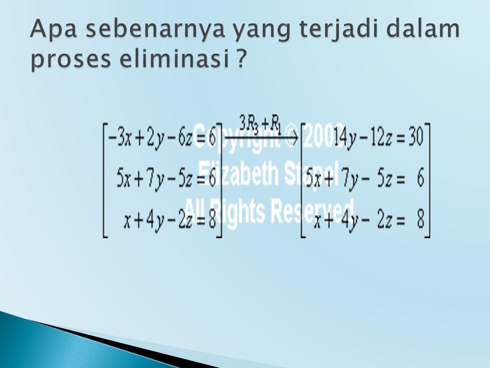  Matriks bujursangkar n x n  Matriks diagonal