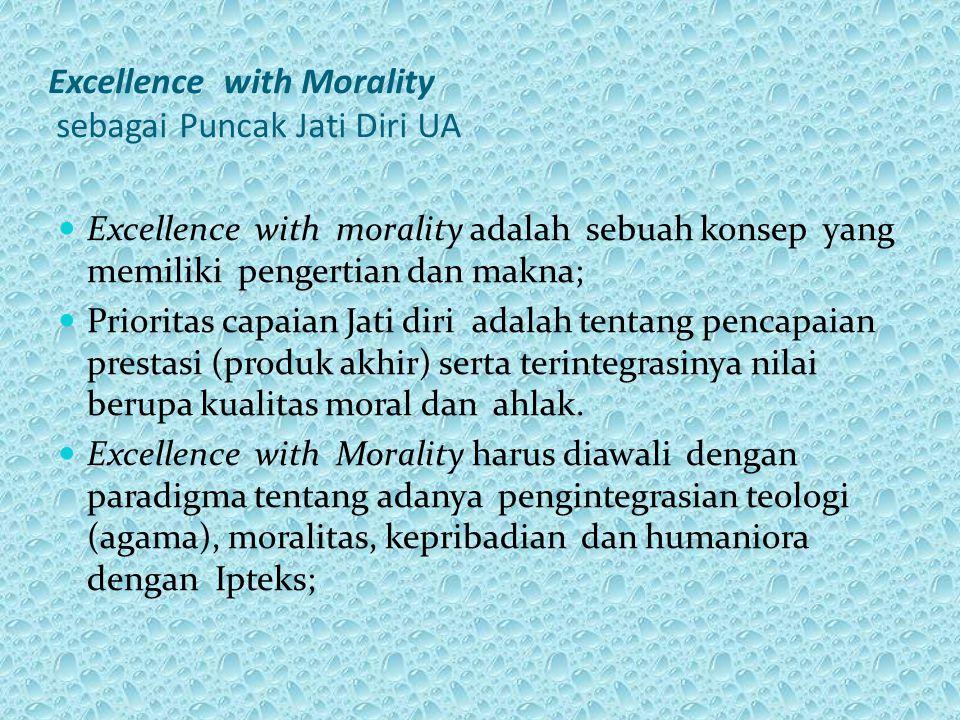 Excellence with Morality sebagai Puncak Jati Diri UA Excellence with morality adalah sebuah konsep yang memiliki pengertian dan makna; Prioritas capai