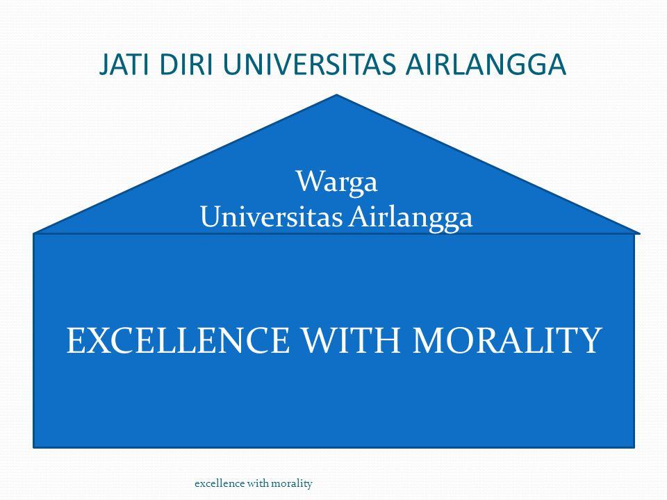 JATI DIRI UNIVERSITAS AIRLANGGA EXCELLENCE WITH MORALITY excellence with morality Warga Universitas Airlangga