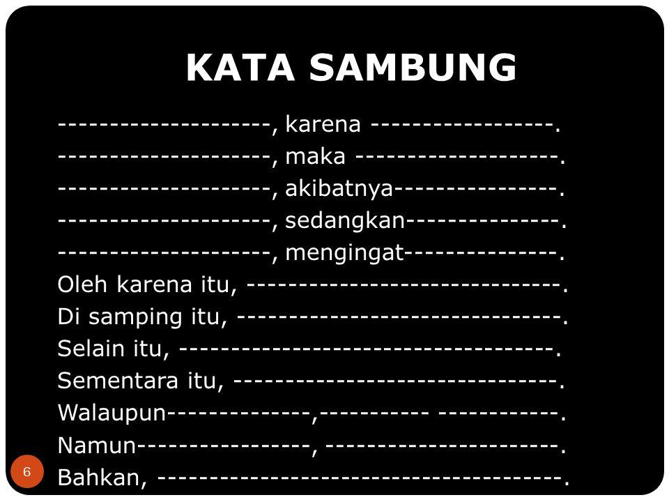 7 COBA CARI KATA SAMBUNG DI BAWAH INI.