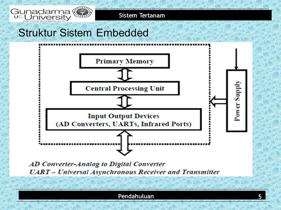 Sistem Tertanam Struktur Sistem Embedded Pendahuluan 5