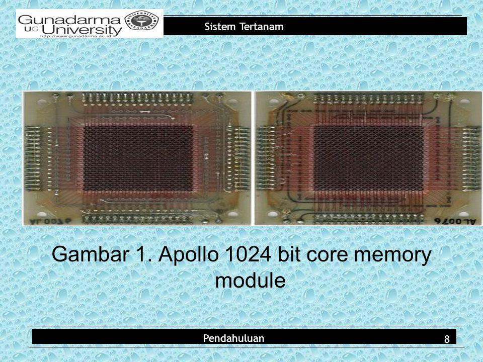 Sistem Tertanam Gambar 1. Apollo 1024 bit core memory module Pendahuluan 8