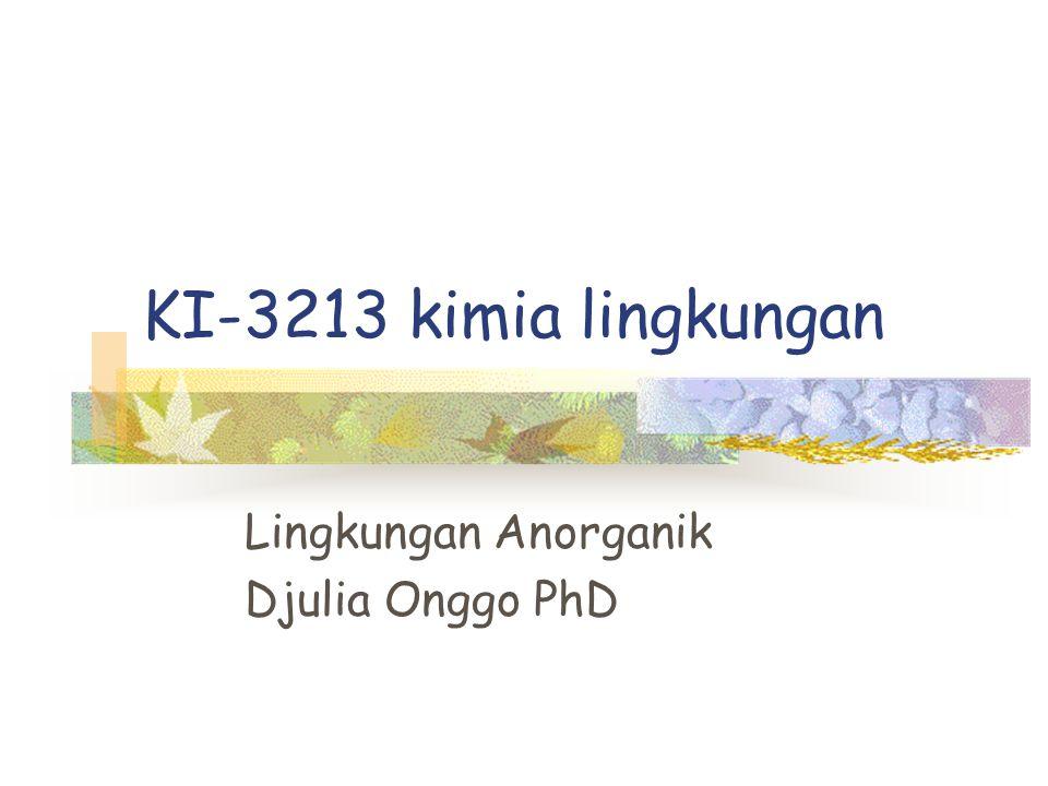KI-3213 kimia lingkungan Lingkungan Anorganik Djulia Onggo PhD