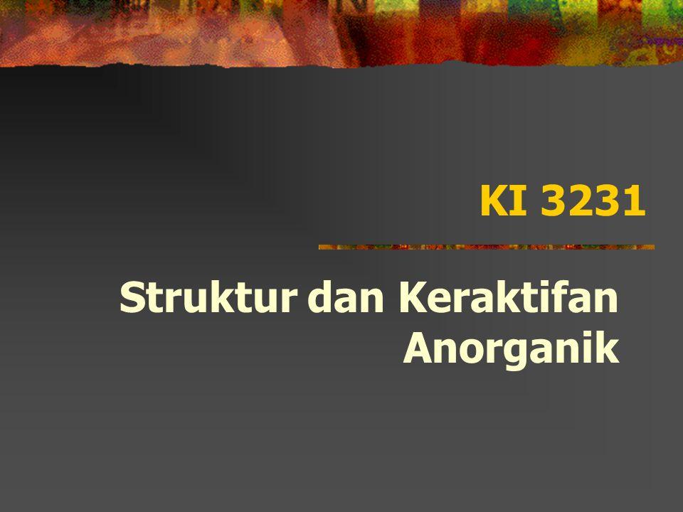 KI 3231 Struktur dan Keraktifan Anorganik