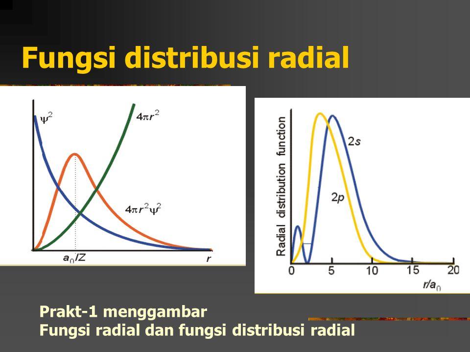Fungsi distribusi radial Prakt-1 menggambar Fungsi radial dan fungsi distribusi radial