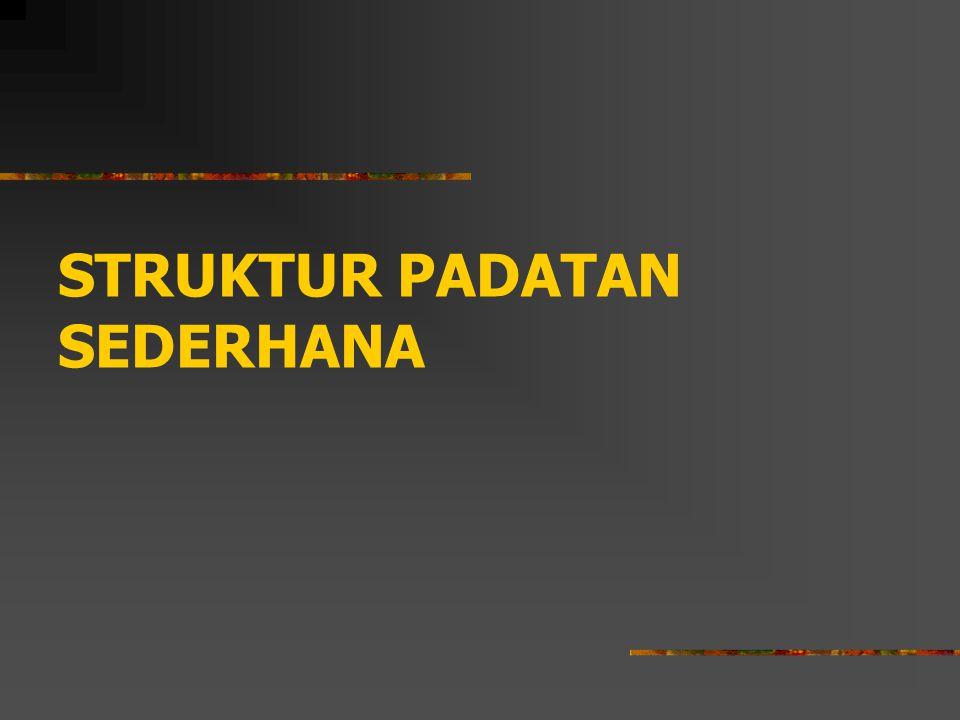 STRUKTUR PADATAN SEDERHANA