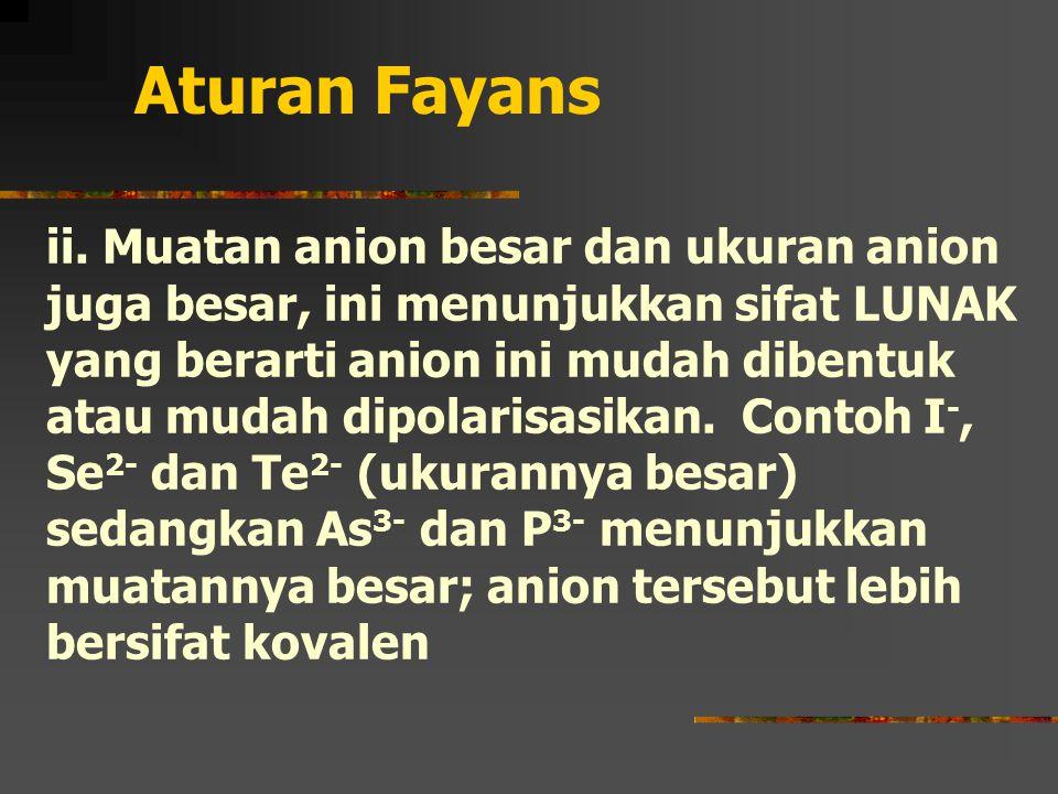 Aturan Fayans ii.