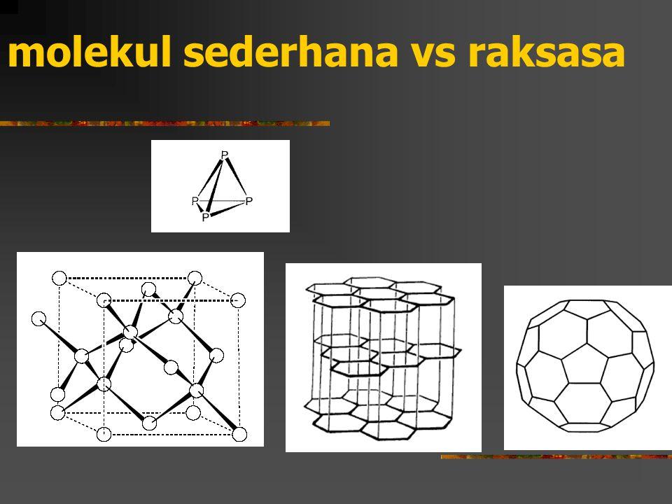 molekul sederhana vs raksasa