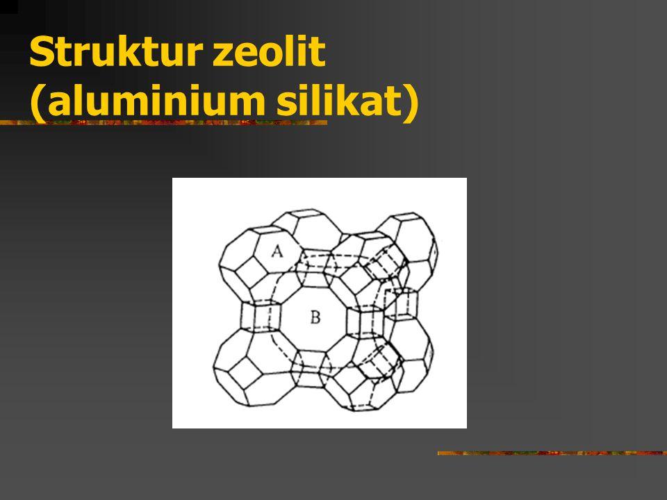 Struktur zeolit (aluminium silikat)