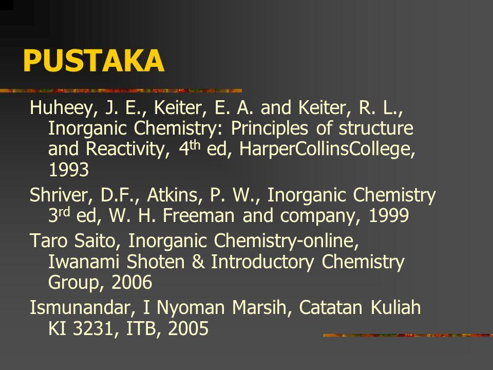 PUSTAKA Huheey, J.E., Keiter, E. A. and Keiter, R.