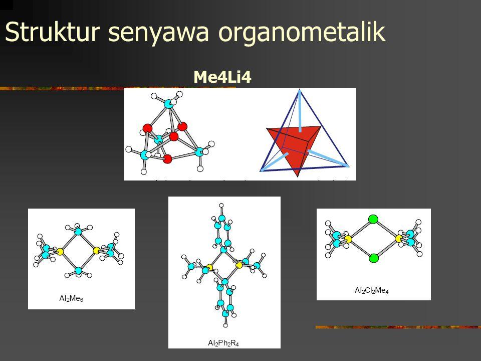 Struktur senyawa organometalik Me4Li4