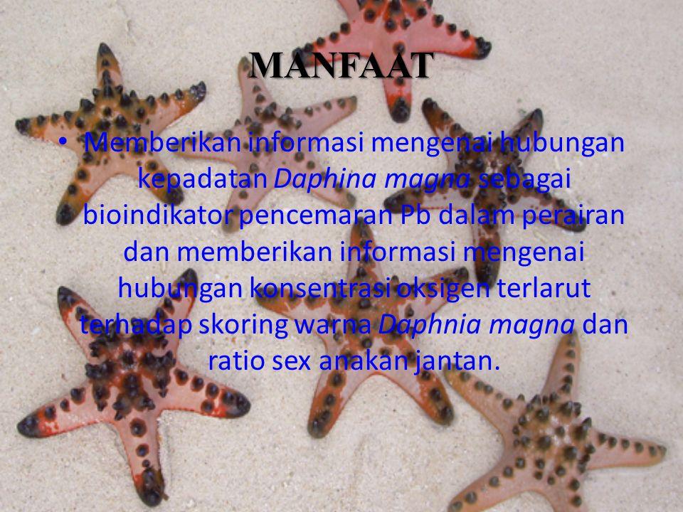 Daphnia magna Daphnia magna adalah komponen utama zooplankton air tawar dengan panjang tubuh antara 0,2 - 3,2 mm.