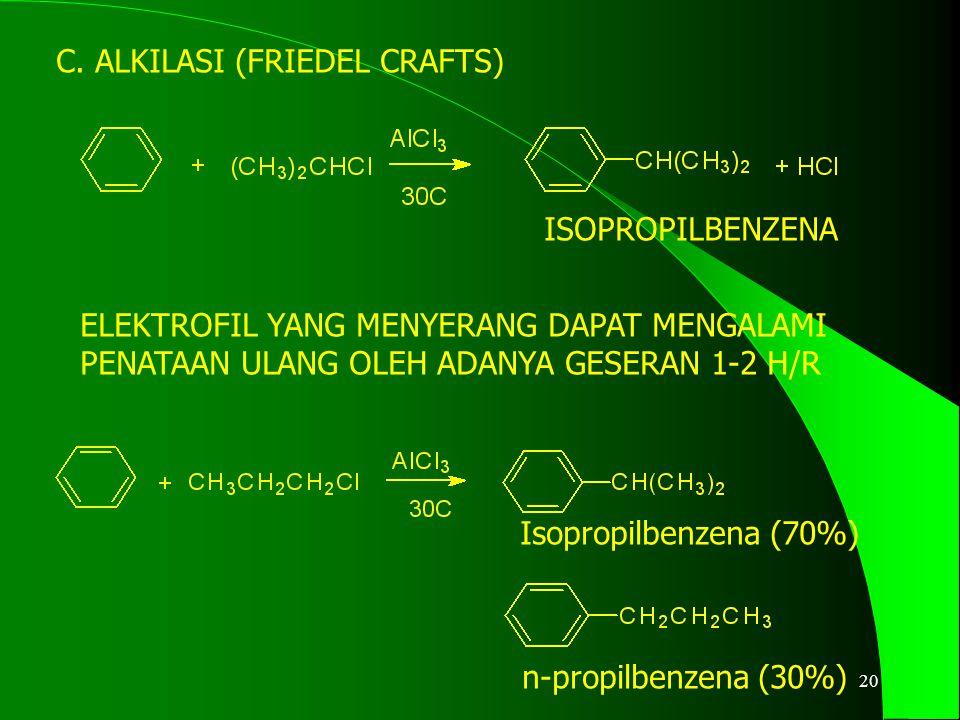 21 D. ASILASI (FRIEDEL CRAFTS) asetofenon etilbenzena