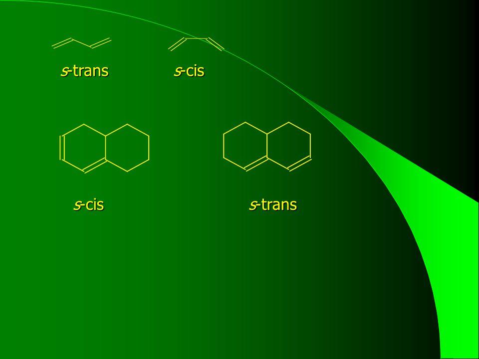 s-trans s-cis s-cis s-trans