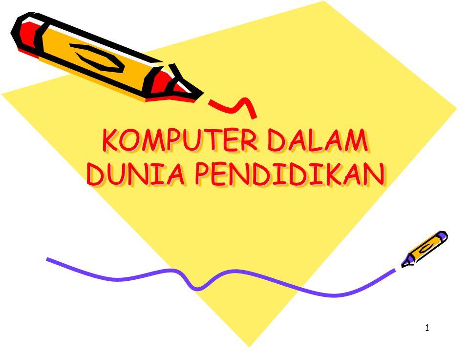2 e-Education Pendidikan yang menggunakan internet sebagai media utamanya Sistem e-Education : m-Education (mobile Education) i-Education (intercative Education) Implementasi dari e-Education adalah IBUteledukasi (www.ibuteledukasi.com)
