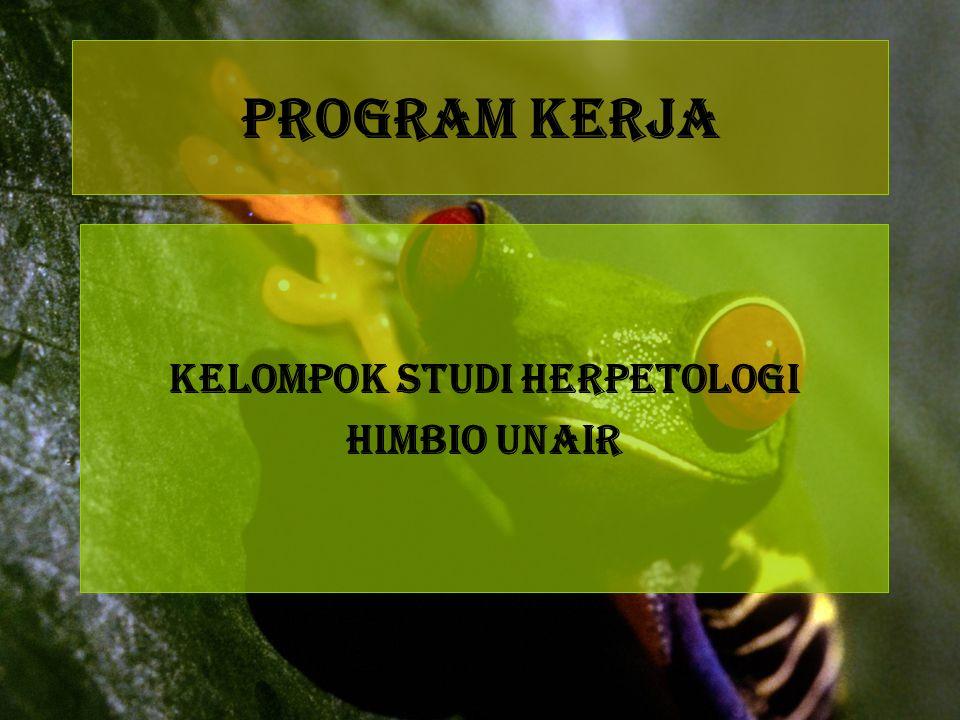 Program Kerja Kelompok Studi Herpetologi Himbio Unair