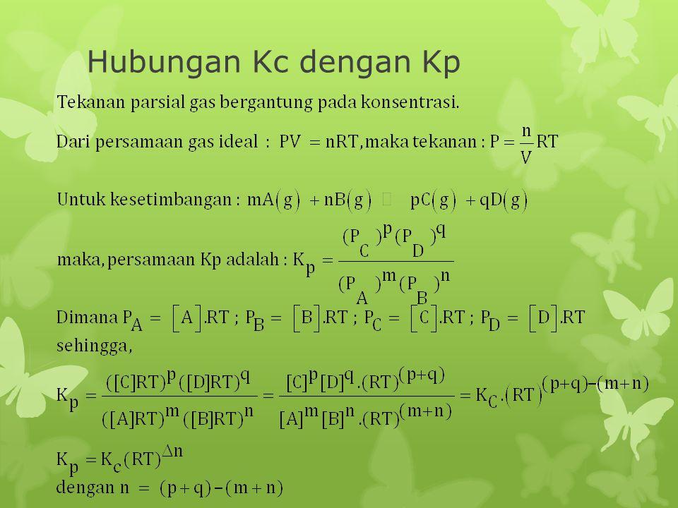 Hubungan Kc dengan Kp