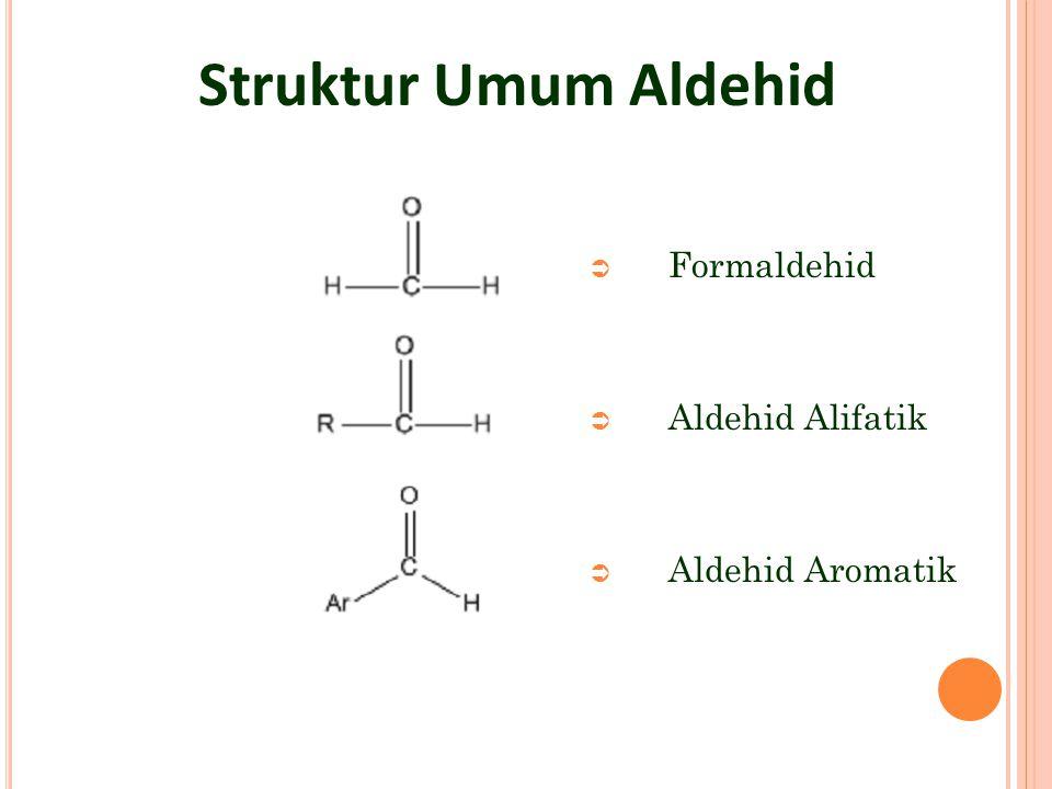 S IFAT FISIK ALDEHID KETON Aldehid+keton murni  tak mengandung hidrogrn yg terikat pada oksigen (tdk spt alkohol) Dapat membentuk ikatan hidrogen dengan atom hidrogen dari air atau alkohol R C R O: ---- H O R