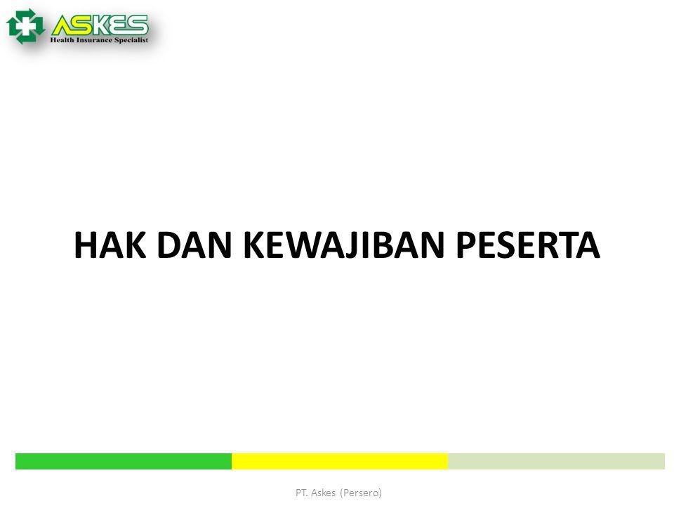 PT. Askes (Persero) HAK DAN KEWAJIBAN PESERTA