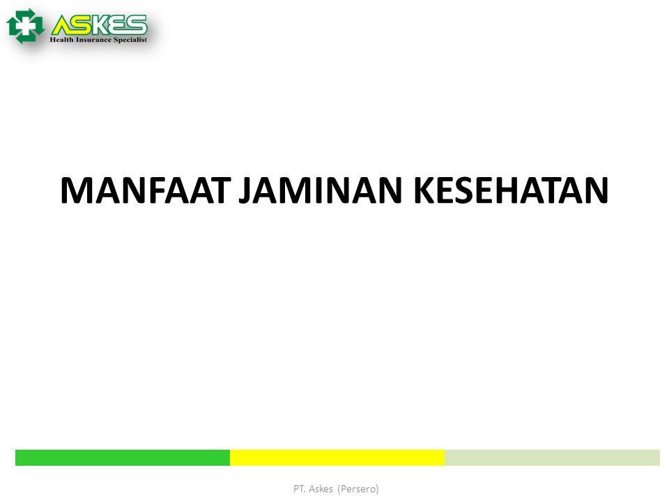 PT. Askes (Persero) MANFAAT JAMINAN KESEHATAN