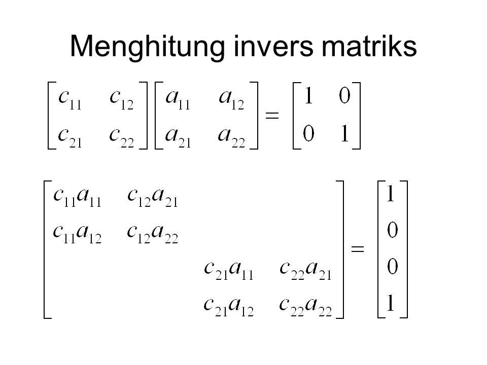Menghitung invers matriks