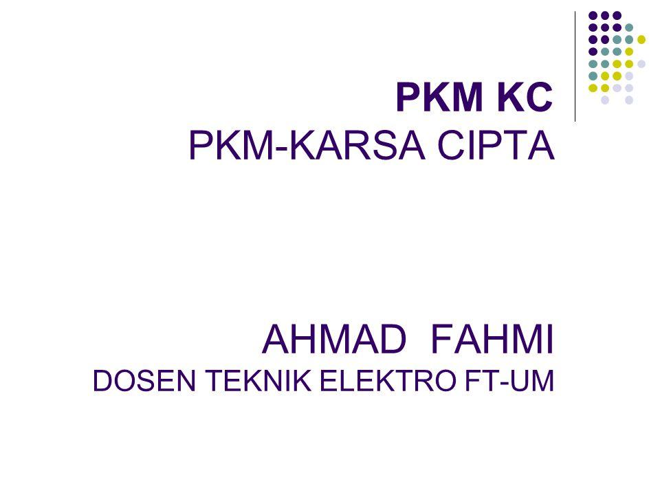 Rambu-rambu PKM-KC Sesuai dengan bidang ilmu, lintas bidang yang dianjurkan.