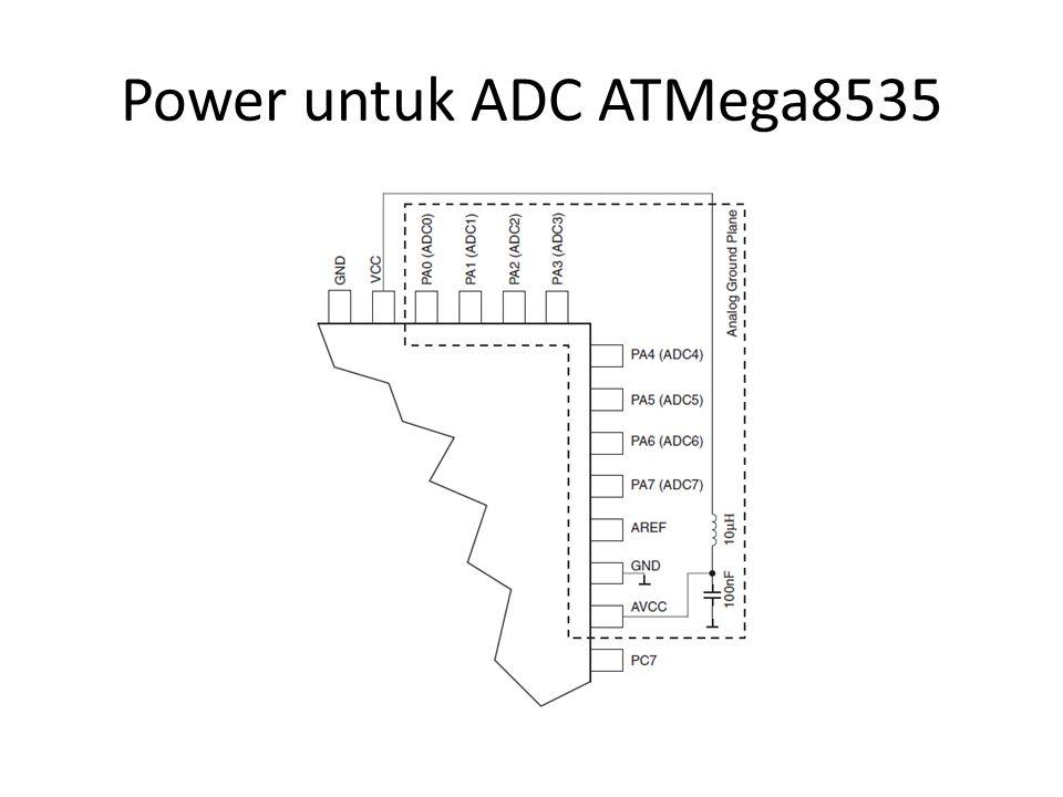 Power untuk ADC ATMega8535