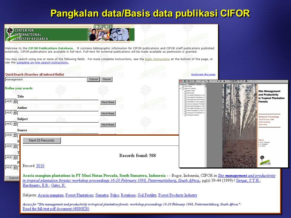 Sistem Pelacakan Penelitian (RTS) pentingnya pengembangan manajemen informasi penelitian (penelitian = core-business CIFOR) Sistem Pelacakan Penelitian (RTS) pentingnya pengembangan manajemen informasi penelitian (penelitian = core-business CIFOR)