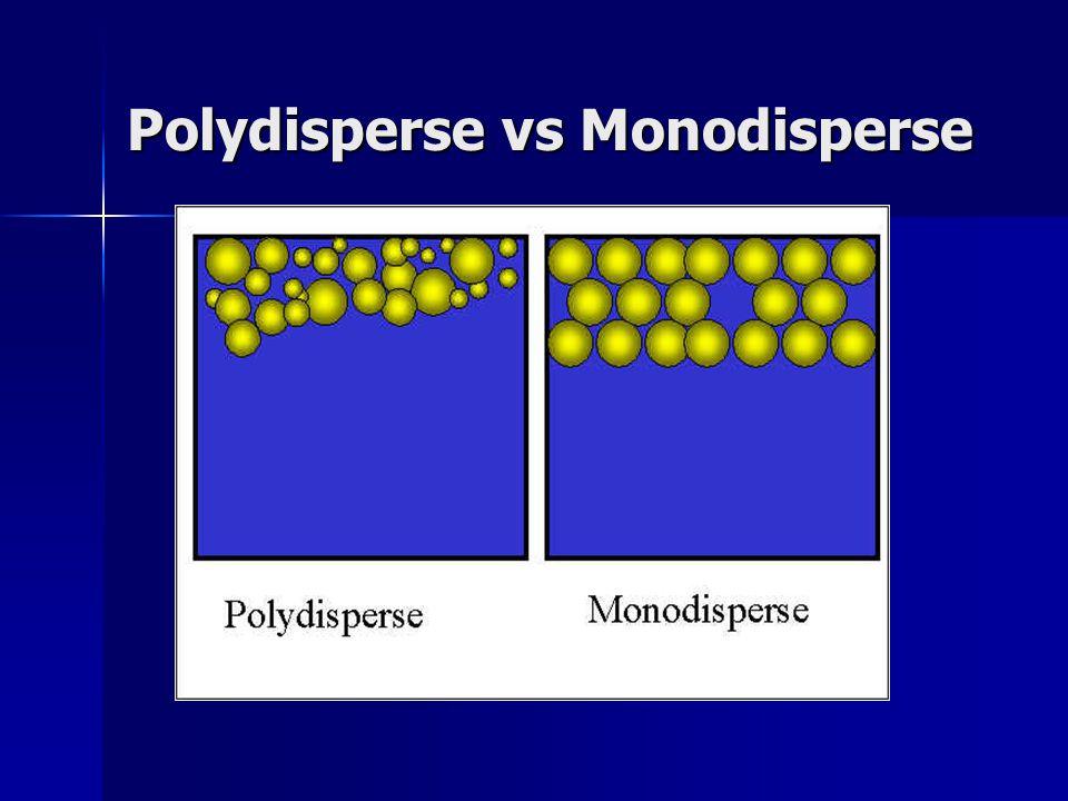 Polydisperse vs Monodisperse