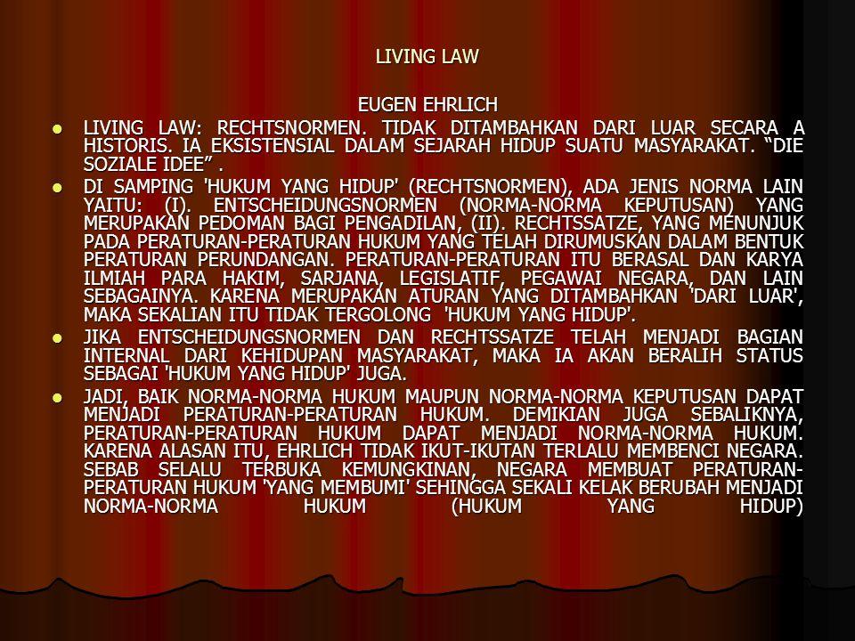 LIVING LAW EUGEN EHRLICH LIVING LAW: RECHTSNORMEN.