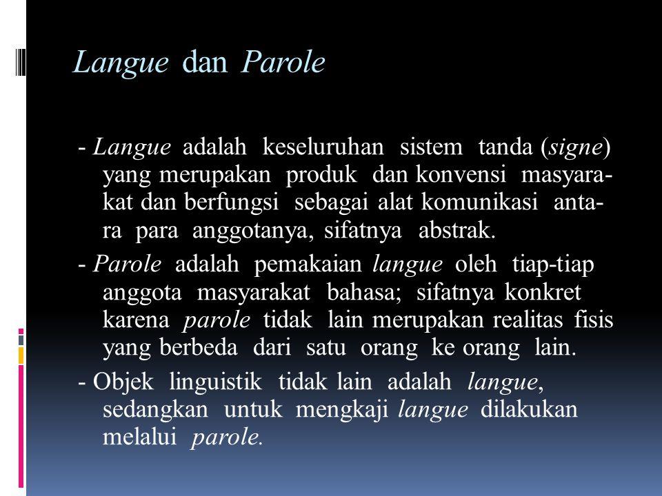 Telaah Diakronis dan telaah Sinkronis - Telaah Diakronis, merupakan upaya untuk mempelajari bahasa dari waktu ke waktu. - Telaah Sinkronis, merupakan
