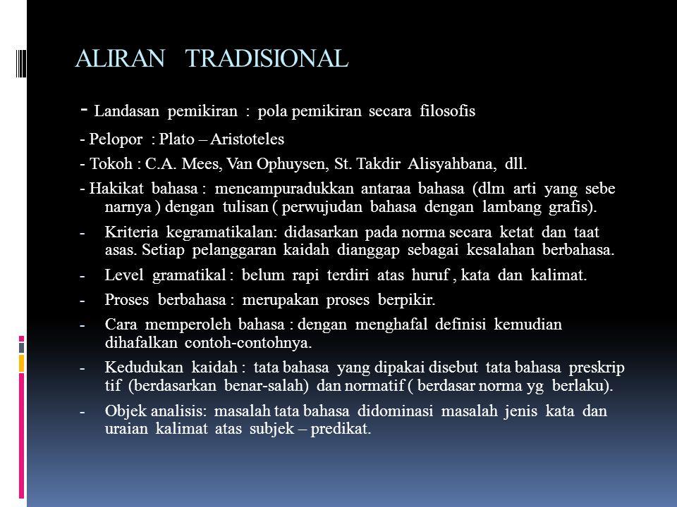 NAMA TEORI NAMA ALIRAN - Teori tradisional - Aliran Tradisional - Aliran Stoa - Teori Struktural - aliran struktural (strukturalisme) - strukturalisme