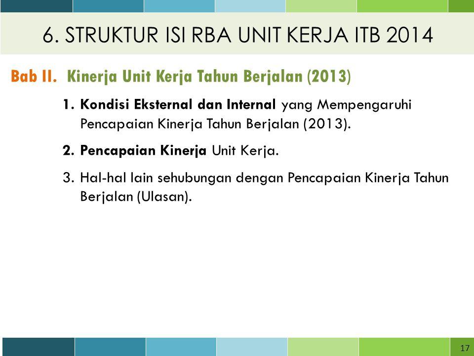 6.STRUKTUR ISI RBA UNIT KERJA ITB 2014 17 Bab II.