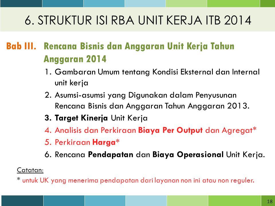 6.STRUKTUR ISI RBA UNIT KERJA ITB 2014 18 Bab III.