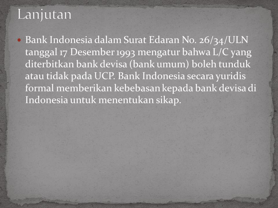 Bank Indonesia dalam Surat Edaran No.