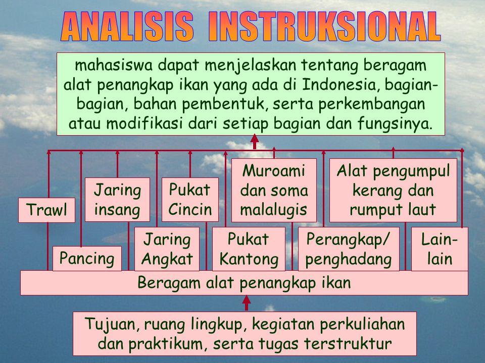  Subani, W.dan H.R. Barus. 1989. Alat Penangkap Ikan dan Udang Laut di Indonesia.