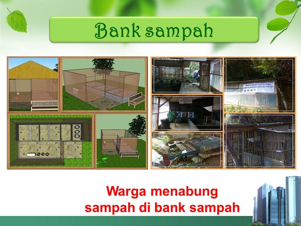 Bank sampah Warga menabung sampah di bank sampah