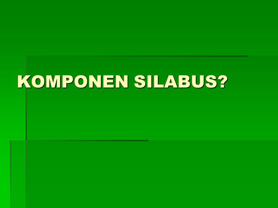 SILABUS   PROGRAM PEMBELAJARAN   SATU MATA KULIAH   SATU SEMESTER
