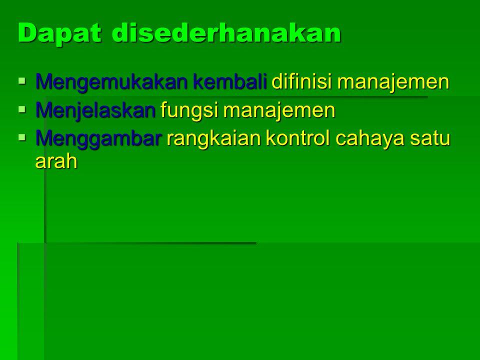 Contoh Indikator  Tanpa melihat catatan, mahasiswa dapat mengemukakan kembali difinisi manajemen menurut P. Sondang Siagian.  Setelah topik ini diba