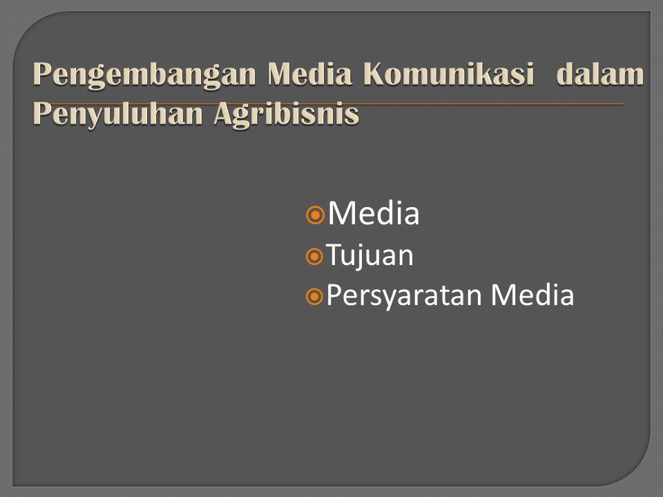  Media  Tujuan  Persyaratan Media