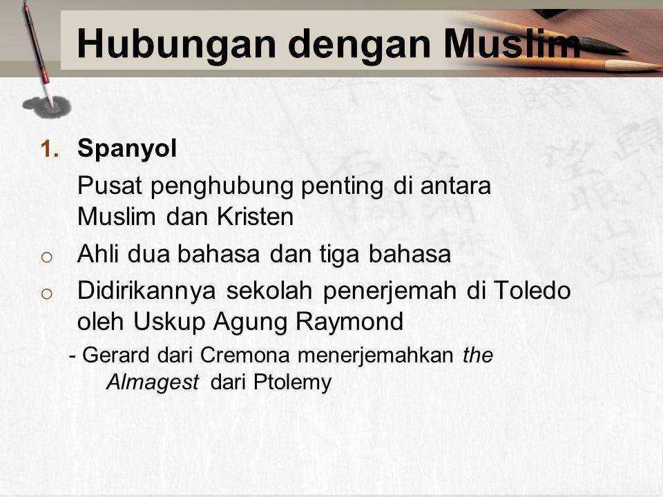 Hubungan dengan Muslim 1.