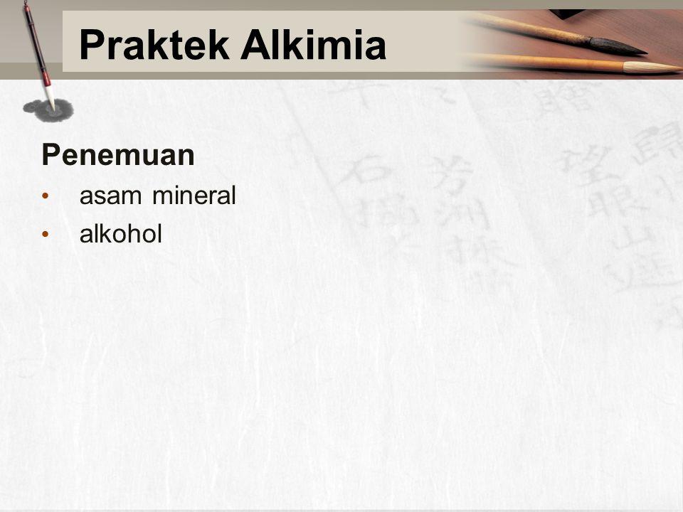 Penemuan asam mineral alkohol