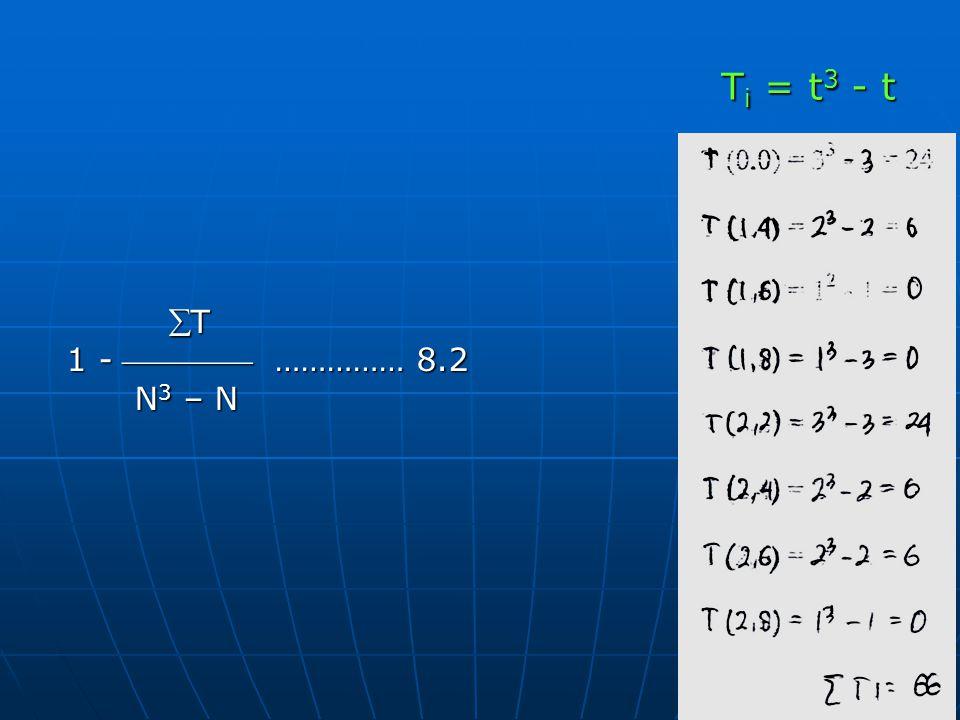 T T 1 -  …………… 8.2 N 3 – N N 3 – N T i = t 3 - t