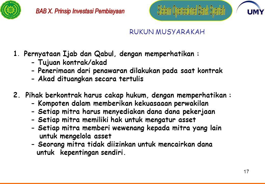 16 LANDASAN SYARIAH 1.Al Quran : a.Surat An-Nisa ayat 12 b.Surat Al Shaad ayat 24 2.Hadits a.