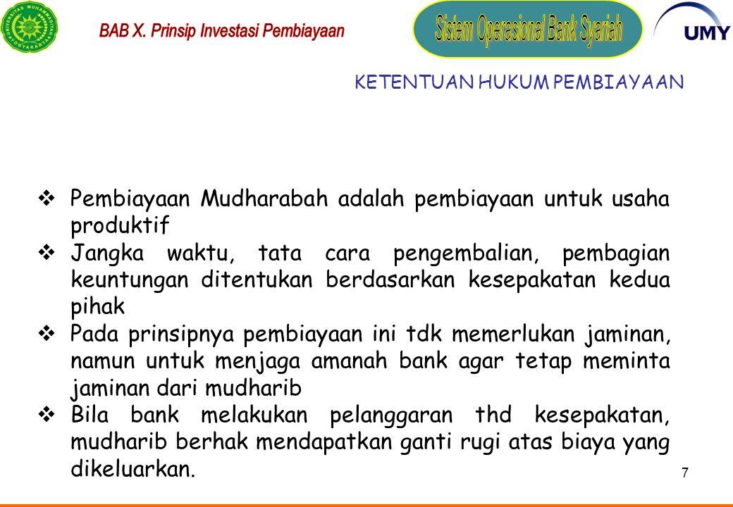 6 4.K euntungan mudharabah adalah jumlah yang didapat sebagai kelebihan dari modal.